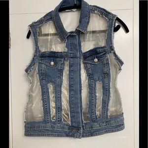 LIU-JO/Size M-L/Denim Vest/Worn once